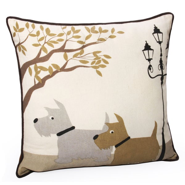 Decorative Pillow With Dog : Jovi Home Scottie Dog Decorative Pillows - 15441990 - Overstock.com Shopping - Great Deals on ...