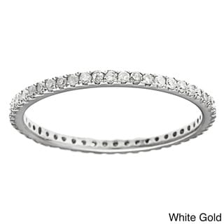 10k Gold 2/5ct TDW Diamond Thin Stackable Band (G-H, I1-I2)