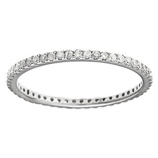 10k White Gold 2/5ct TDW Diamond Thin Stackable Band (G-H, I1-I2)