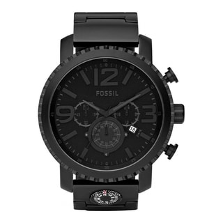 Fossil Men's 'Gage' Black Ion-plated Stainless Steel Watch