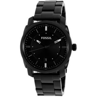 Fossil Men's 'Machine' Black Stainless Steel Watch