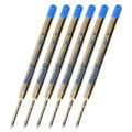 Pelikan Giant Blue Ink Medium Ball Point Pen Refills (Pack of 6)