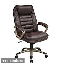 Office Star Ergonomic Eco Leather Executive Chair