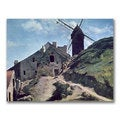 Jean Baptiste Corot 'A Windmill at Montmartre' Canvas Art