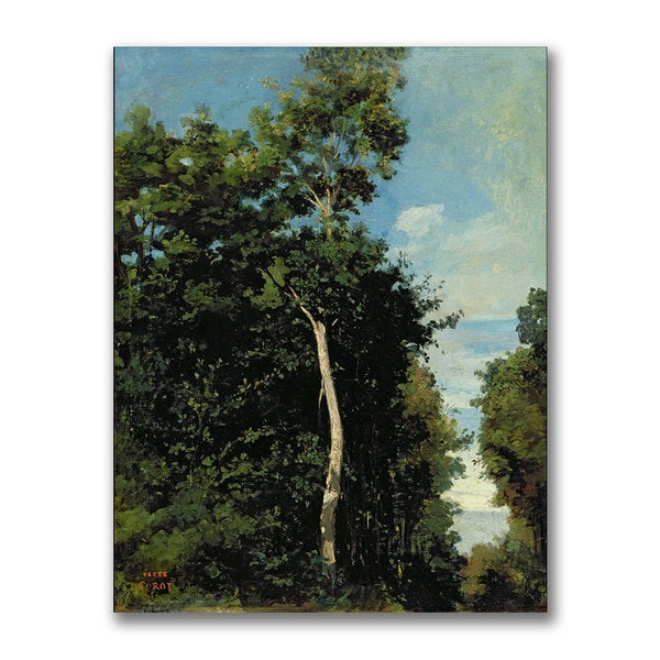 Jean Baptiste Corot 'The Wood on the Cote de Grace' Canvas Art Replica