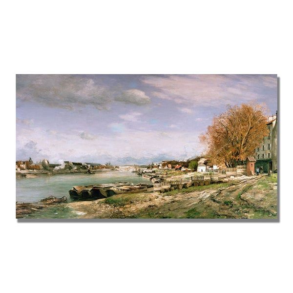 Jean Baptiste Guillaumin 'The Old Quay at Bercy' Canvas Art