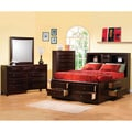 Sahara Cappuccino Brown Queen Bedroom 4-piece Set