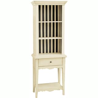 Hand Painted Distressed Cream Finish Bookcase