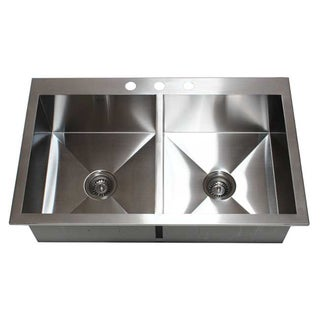 Stainless Steel Double Bowl Topmount Kitchen Sink