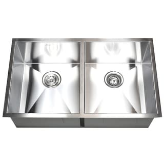 Stainless Steel Double Bowl 50/50 Undermount Kitchen Sink