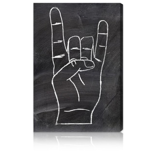 The Oliver Gal Artist Co. 'Rock On' Fine Art Canvas
