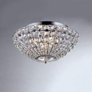 Hermes Crystal Chrome 4-light Ceiling Lamp