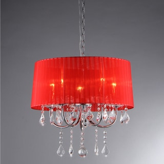 Eurynome Crystal Wine Red 5-light Chandelier