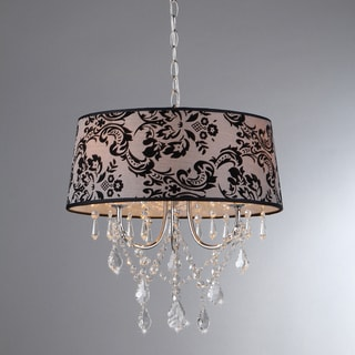 Eris Crystal Chrome 4-light Chandelier