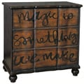 Hand Painted Distressed Two-Tone Brown Accent Chest