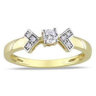 Miadora 10k Yellow Gold 1/5ct TDW Diamond Ring (G-H, I2-I3)