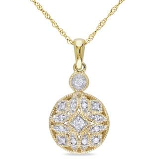 Miadora 14k Yellow Gold 1/8ct TDW Diamond Necklace (G-H, I1-I2)