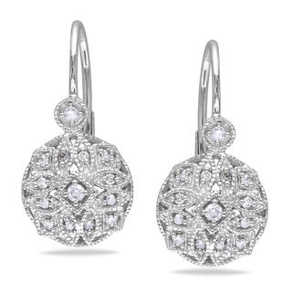 Miadora 14k White Gold 1/6ct TDW Diamond Earrings (G-H, I1-I2)