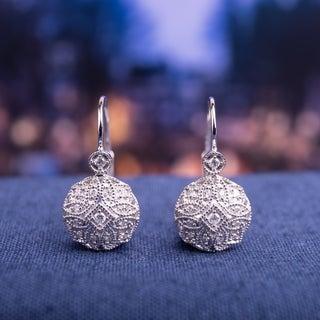 Miadora 14k White Gold 1/6ct TDW Diamond Earrings (G-H, I1-I2)