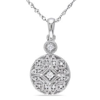 Miadora 14k White Gold 1/8ct TDW Diamond Necklace (G-H, I1-I2)