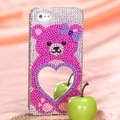 BasAcc Pink Bear Mirror Premium Diamante Case for Apple� iPhone 5