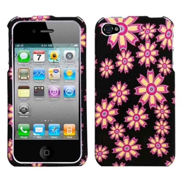 INSTEN Flower Wall Phone Case Cover for Apple iPhone 4/ 4S