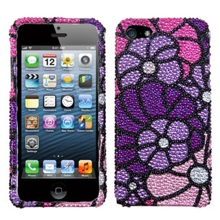 BasAcc Purple Spring Garden Premium Diamante Case for Apple� iPhone 5