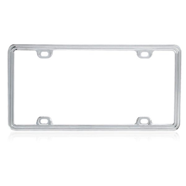 INSTEN Flat Chrome Metal License Plate Frame