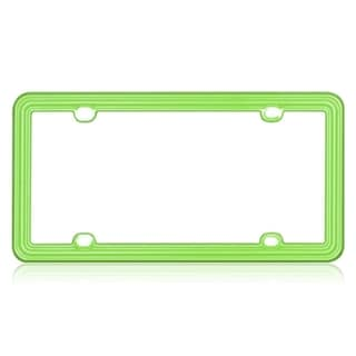 BasAcc Apple Green Plastic License Plate Frame