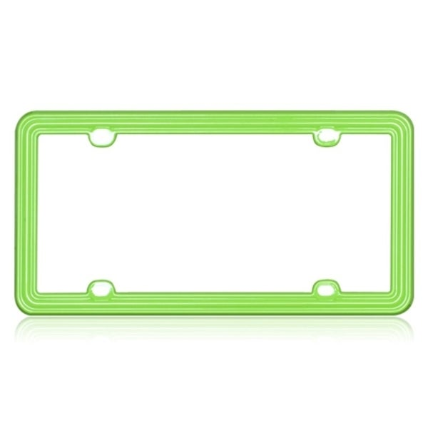 INSTEN Apple Green Plastic License Plate Frame