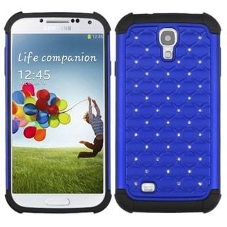 INSTEN Dark Blue/ Black TotalDefense Phone Case Cover for Samsung Galaxy S IV/ S4