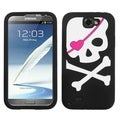 BasAcc Big Skull/ Black Case for Samsung Galaxy Note II/ 2/ T889/ I605