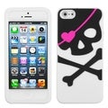 BasAcc Big Skull/ White Pastel Skin Case for Apple iPhone 5