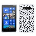 BasAcc Black Mixed Polka Dot/White Candy Cover for Nokia 820 Lumia 820
