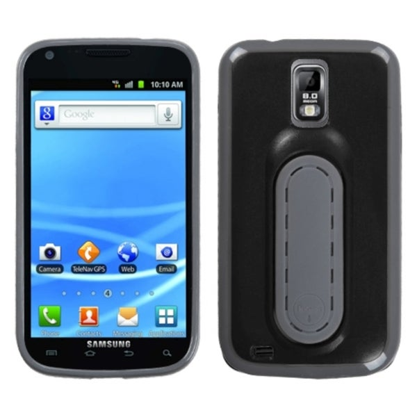 INSTEN Black Snap Tail Stand Phone Case Cover for Samsung T989 Galaxy S II/ S2
