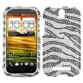 BasAcc Black Zebra Diamante Back Case for HTC One VL