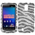 BasAcc Black Zebra Diamante Back Case for ZTE N9100
