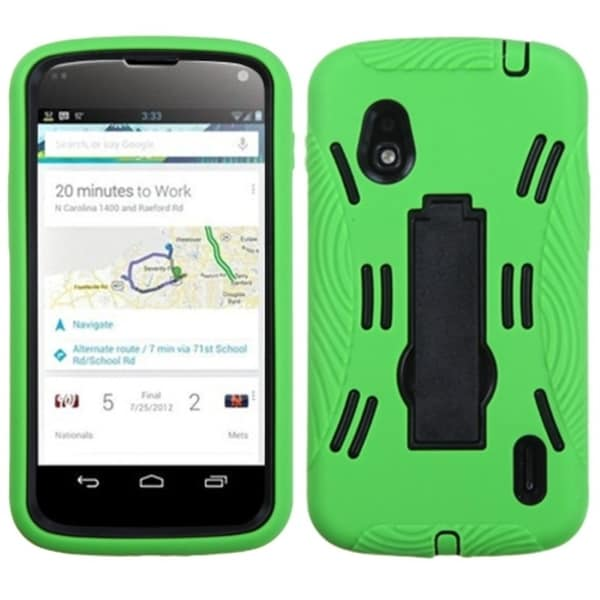 BasAcc Black/ Green Symbiosis Stand Case for LG E960 Nexus 4