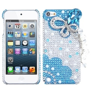 BasAcc Blue Butterfly 3D Diamond Case for Apple iPod Touch 5