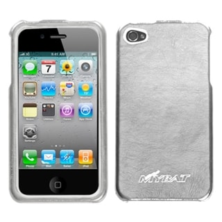 BasAcc Silver Metallic Leather Executive Case for Apple iPhone 4/ 4S