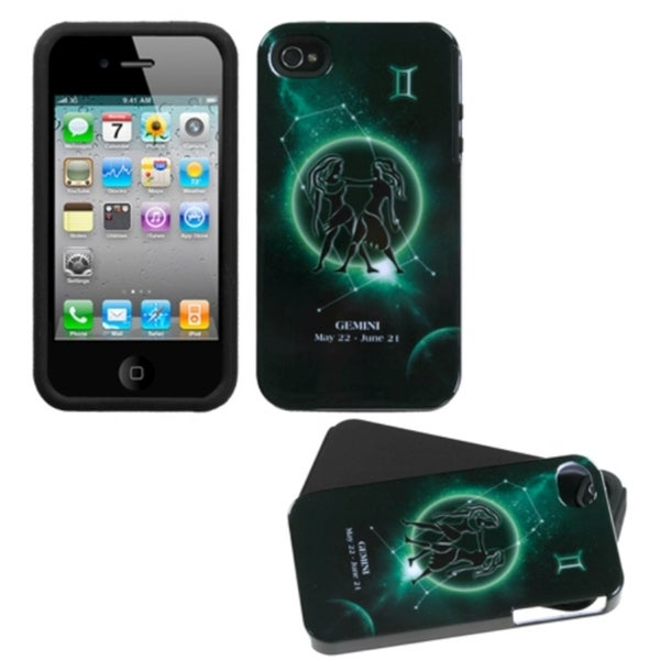 INSTEN Gemini Horoscope Collection Fusion Phone Case Cover for Apple iPhone 4/ 4S