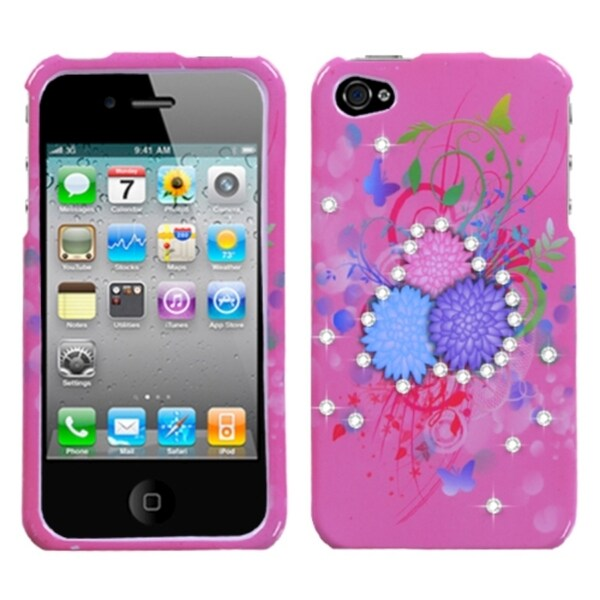 INSTEN Garden Sundae Diamante Phone Case Cover for Apple iPhone 4/ 4S