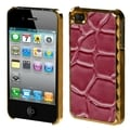 BasAcc Hot Pink Rose Stone Texture Alloy Case for Apple iPhone 4/ 4S