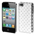 BasAcc White/ Silver Diamante Case for Apple iPhone 4/ 4S