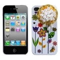 BasAcc Lace Sunflower PomPon Flower Case for Apple iPhone 4/ 4S