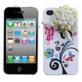 BasAcc Pearl Blossom PomPon Flower Case for Apple iPhone 4/ 4S