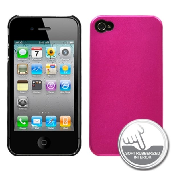 BasAcc Metallic Hot Pink Blend Case for Apple iPhone 4/ 4S