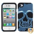 BasAcc Metallic Sky Blue/ Black Hybrid Case for Apple iPhone 4/ 4S