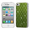 BasAcc Green Studded Case with White Sides for Apple iPhone 4/ 4S