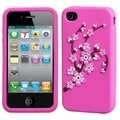 BasAcc Spring Flowers/ Hot Pink Pastel Case for Apple iPhone 4/ 4S